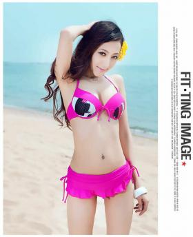KOREAN THREE-PIECE BIKINI SWIMSUIT
