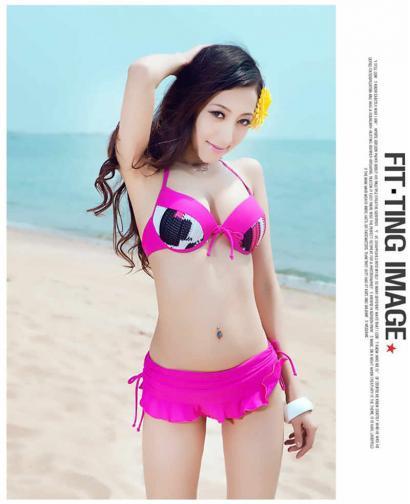 Korean Three Piece Bikini Swimsuit Wegee