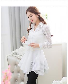 White Perspective Shirt Dress (Include Underwear)