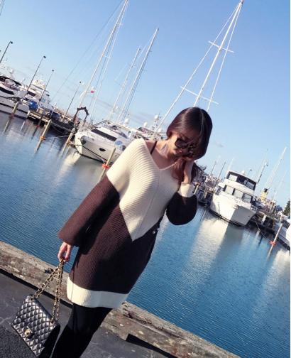 New Fashion Women's Long Style Sweater Knitted Dress