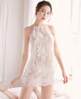 Perspective Ice Silk Lace Sexy Nightdress + T-Back
