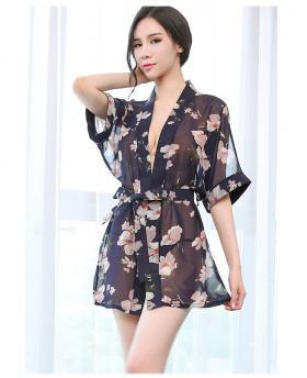 Women's Thin Perspective Sexy Nightdress Sleepwear + T-back