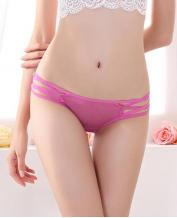 Women's Sexy Lace Jacquard Hollow Pantie - Rose-Carmine