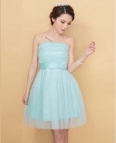 Short Style Bride and Bridesmaid Dress