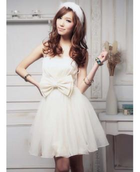 Short Style Bubble Skirt Bridesmaid Dress