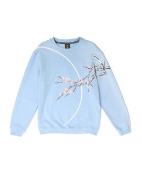 Ohcat Blooming Full Moon Sweats - Light Blue