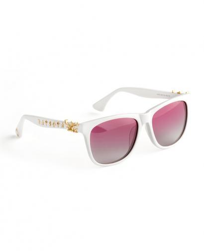 WiGi Atlantean White Frame with Gold Metal Castings Luxury Glasses